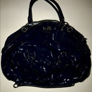 Coach purse, Navy blue patent leather